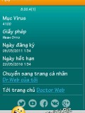 Dr.WEB Antivirus Pro 8 key bản quyền tới 05/2016 cho Android