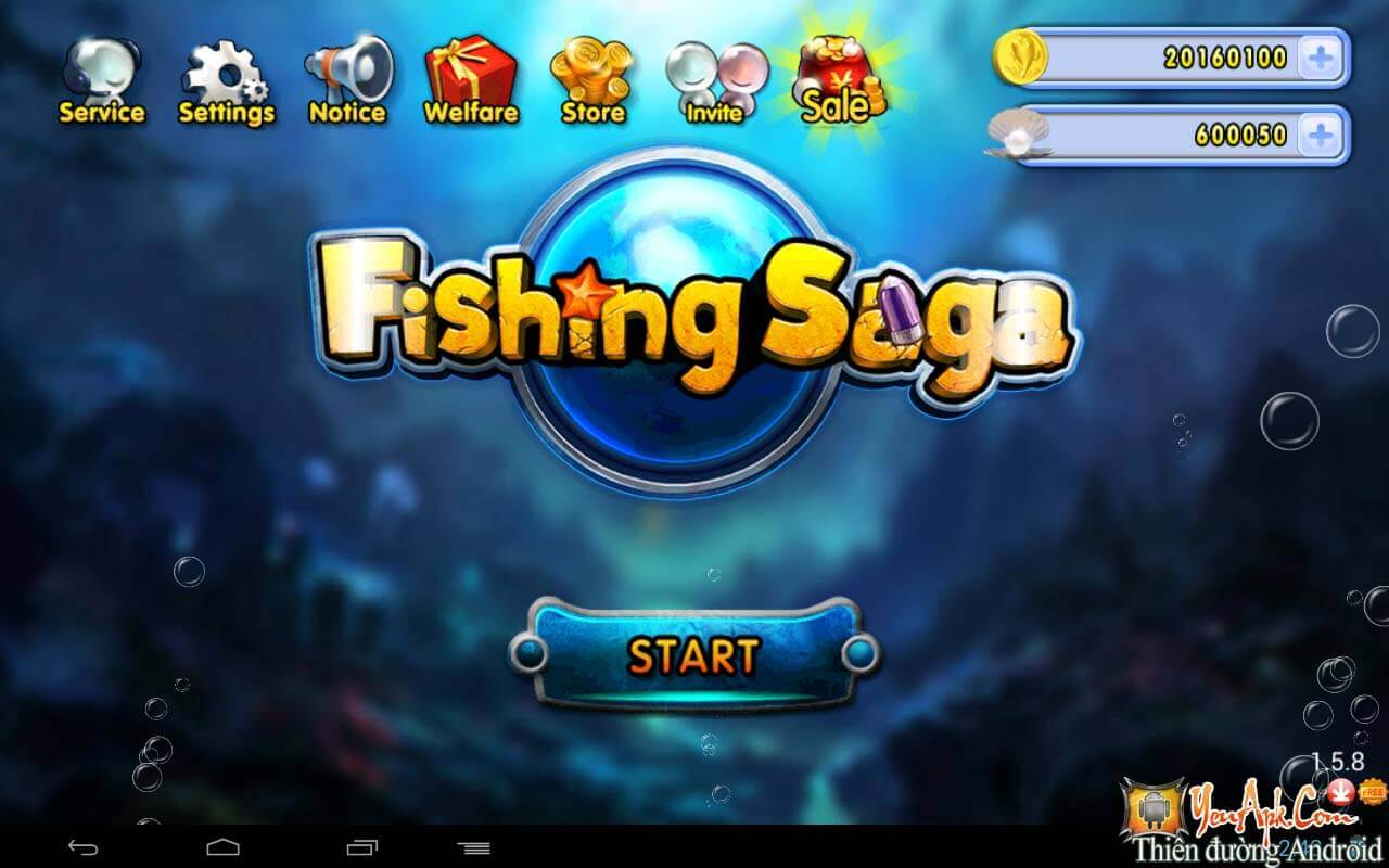 Fishing saga mod ti n game b n c kh ng long cho android for Fishing saga games