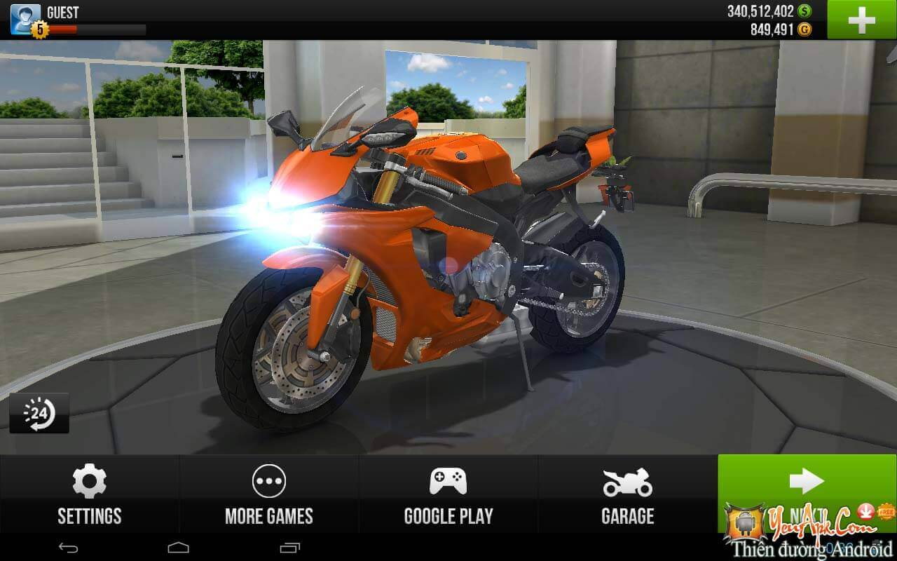 "[Game Android]Traffic Rider HD hack full xe – Game ""tay lái lụa"" moto cho Android"