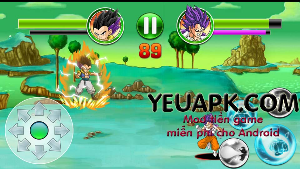 Super Saiyan Dragon Z Warriors HD mod tiền cho Android