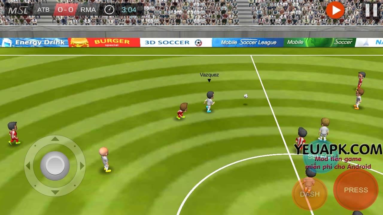 Mobile Soccer League mod – Game bóng đá dung lượng nhẹ cho Android