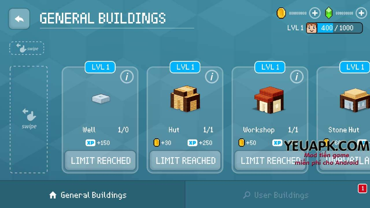 block craft 3d mod apk unlimited coins and gems
