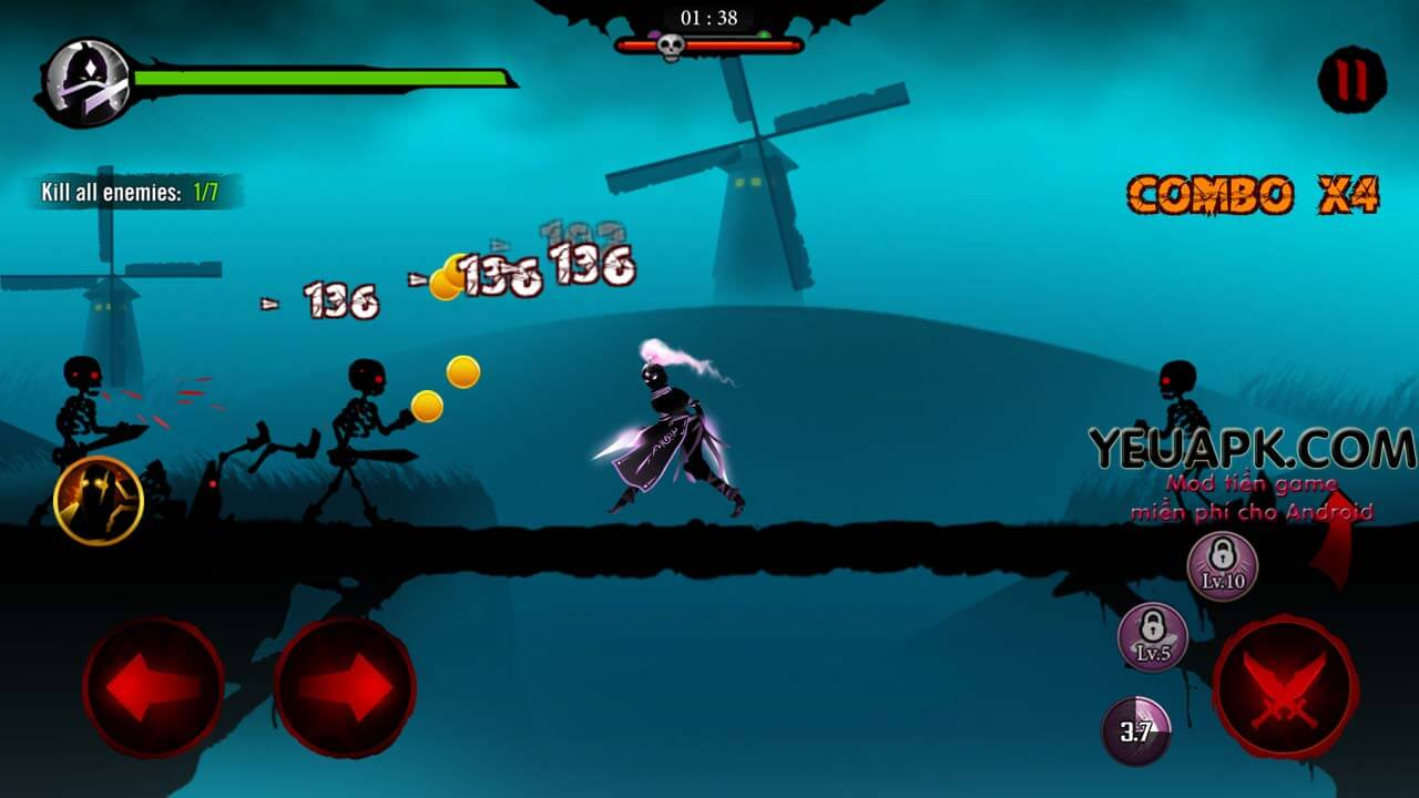 Shadow Stickman mod kim cương (diamonds) – Game RPG đỉnh