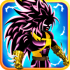 Shadow Goku Saiyan Battle mod kim cương – Game solo Goku cho Android