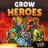 Nuôi một bữa tiệc VIP v5.8.2 mod kim cương (gems) – Game Grow Heroes cho Android